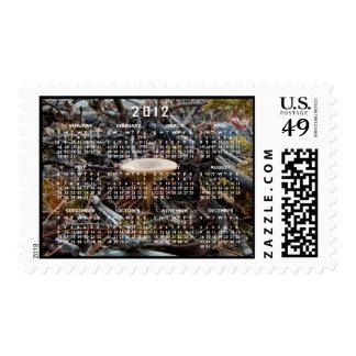 Mushroom Stretch; 2012 Calendar Postage Stamp