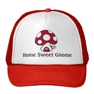Mushroom Toadstool Fairy House Home Sweet Gnome Trucker Hat