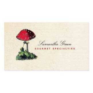 Mushroom Toadstool Red Vintage Business Card