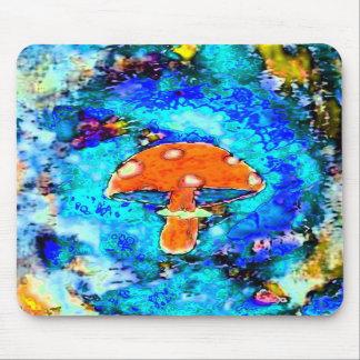 Mushroom  Tye Dyed Mouse Mat