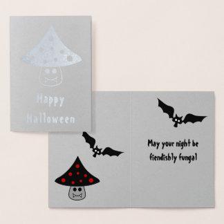 Mushroom Vampire Foil Halloween Card