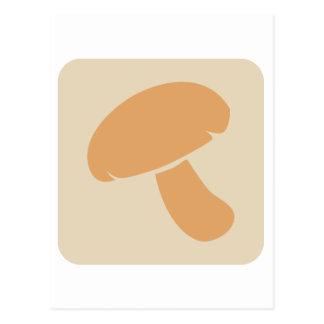 Mushroom Vegetable Icon Postcard