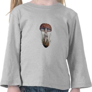 Mushroom Vintage Print Amanita Rubescens Fungus Tee Shirts