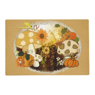Mushroom Whimsical Autumn Fantasy Placemat