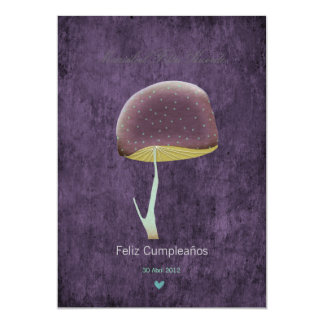 Mushroom whimsical nature summer party card