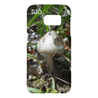 Mushroom with your initials samsung galaxy s7 case