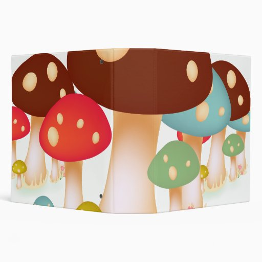 Mushrooms 3 Ring Binders