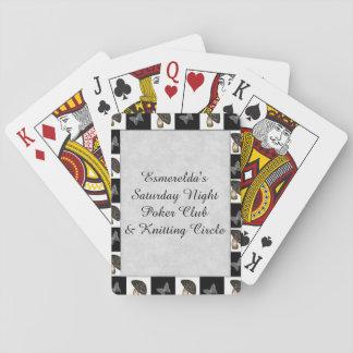 Mushrooms and Butterflies Checkerboard Card Decks