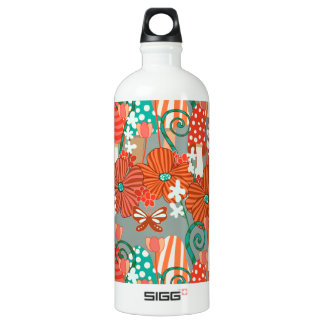 Mushrooms and Fall Flora Aluminum Water Bottle