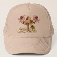 Mushrooms and Flowers Trucker Hat