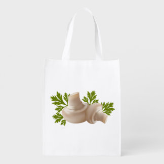 Mushrooms and Parsley  Grocery bag Market Totes