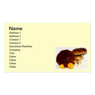 mushrooms business card templates
