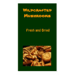 Mushrooms Double-Sided Standard Business Cards (Pack Of 100)
