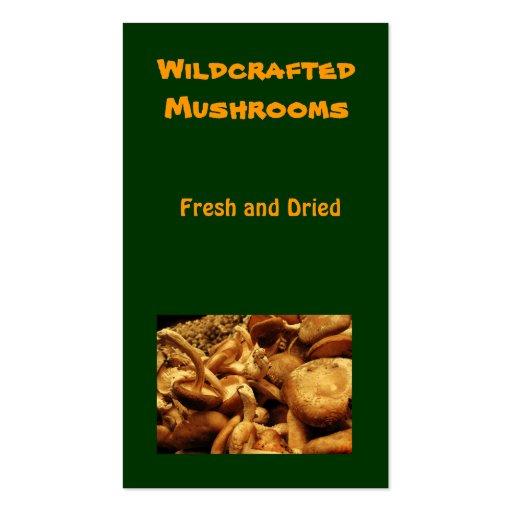 Mushrooms Business Card