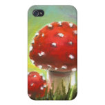 Mushrooms Cover For iPhone 4