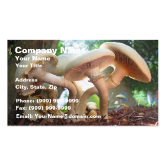 Mushrooms Dancing Double-Sided Standard Business Cards (Pack Of 100)