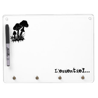 Mushrooms… Dry Erase Board With Keychain Holder