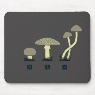 Mushrooms (food, poison, high) mouse pad