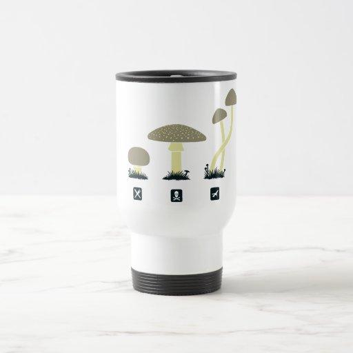 Mushrooms (food, poison, high) 15 oz stainless steel travel mug