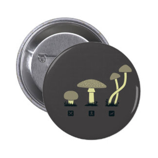 Mushrooms (food, poison, high) pinback button