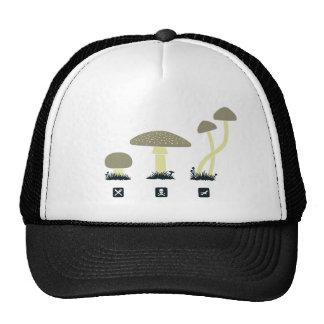 Mushrooms (food, poison, high) trucker hat