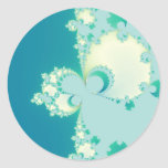 Mushrooms Fractal Classic Round Sticker