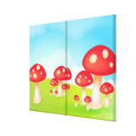 Mushrooms Gallery Wrap Canvas