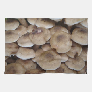 Mushrooms growing in a cluster original photo art kitchen towel