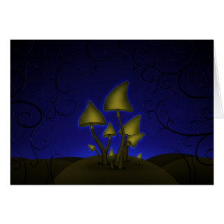 Mushrooms (Halloween Night) Card