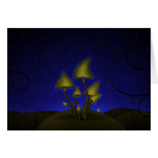 Mushrooms (Halloween Night) Card