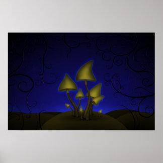 Mushrooms (Halloween Night) Poster