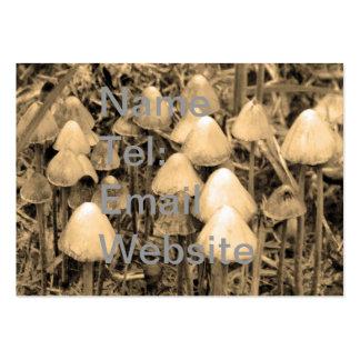 Mushrooms in Sepia Business Card