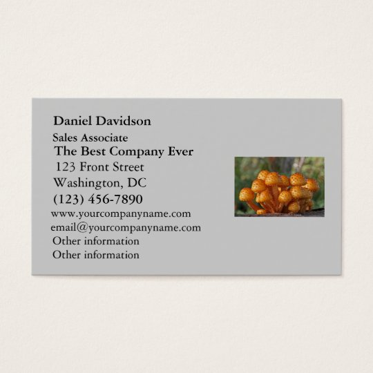 Mushrooms Macro Photo Business Card
