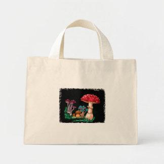 Mushrooms Mini Tote Bag