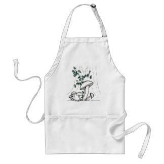 Mushrooms & Morning Glories apron