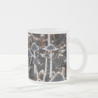 Mushrooms 10 Oz Frosted Glass Coffee Mug