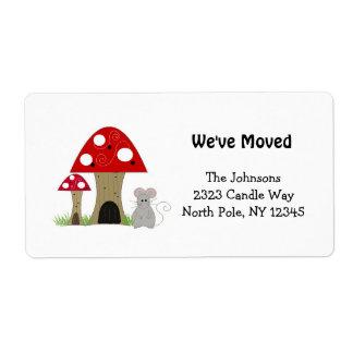 Mushrooms New Home Address Labels
