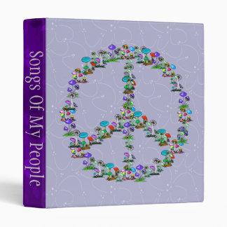 Mushrooms Of Peace 3 Ring Binder