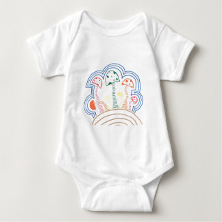 Mushrooms On A Hill Baby Bodysuit