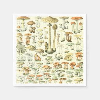 Mushrooms Paper Napkin