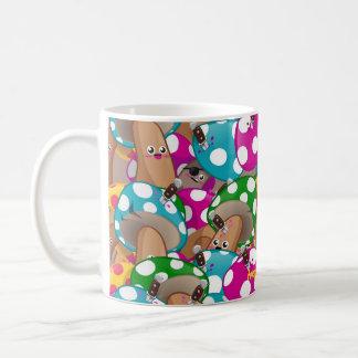 Mushrooms pattern 1 classic white coffee mug