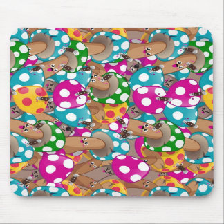 Mushrooms pattern 1 mouse pad