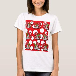 Mushrooms pattern T-Shirt