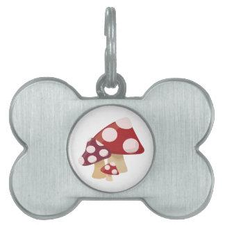 Mushrooms Pet Name Tag