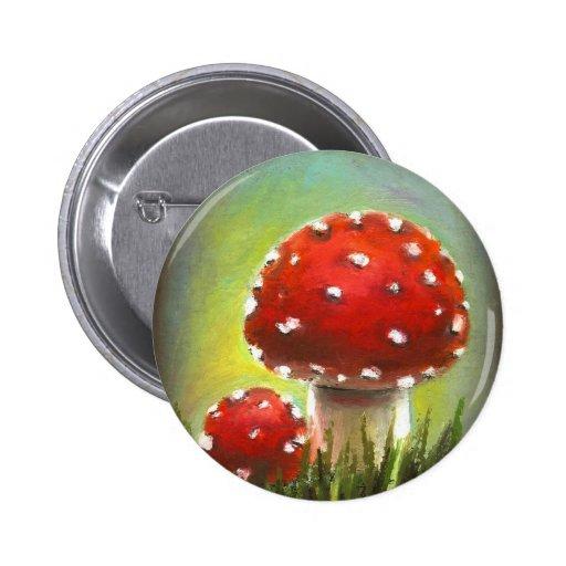 Mushrooms Pinback Button
