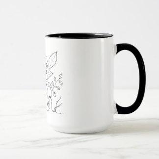 Mushrooms, Toadstools: Original Ink Drawing Mug