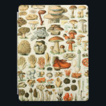 "Mushrooms Vintage Style iPad Pro Smart Cover<br><div class=""desc"">This cover features a vintage mushrooms encyclopedia print.</div>"