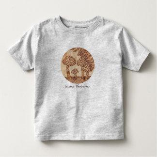 Mushrooms Woodburned Prim Rustic Woodland Toddler T-shirt