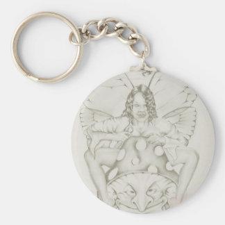 Mushroon Fairy Basic Round Button Keychain