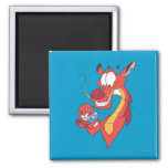 Mushu and Cri-kee 2 Inch Square Magnet